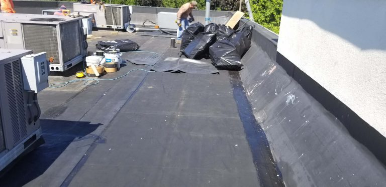 Flat Roof Repair Dunkin Donuts 4